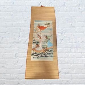 """Large 57""""x20"""" Asian Bamboo painting"""